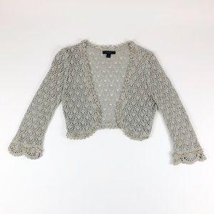 Express Mini Grey Glint Knitted Cardigan
